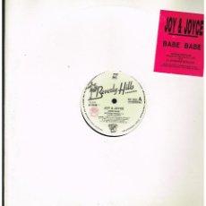 Discos de vinilo: JOY & JOYCE - BABE BABE - MAXI SINGLE 1991 - ED. ITALIA. Lote 245353860