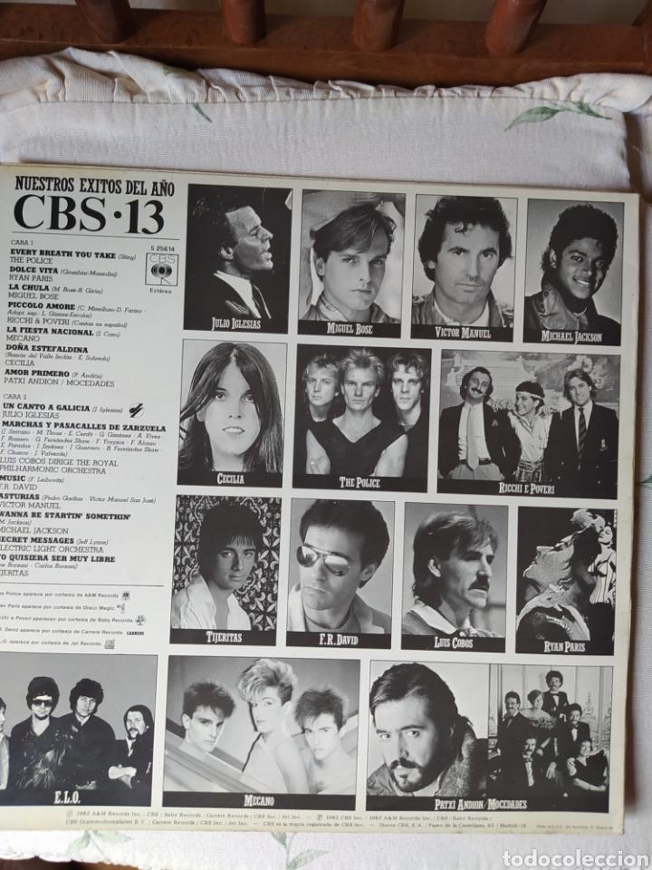 Discos de vinilo: CBS 13. NUESTROS ÉXITOS DEL AÑO 1983- - Foto 2 - 245354705