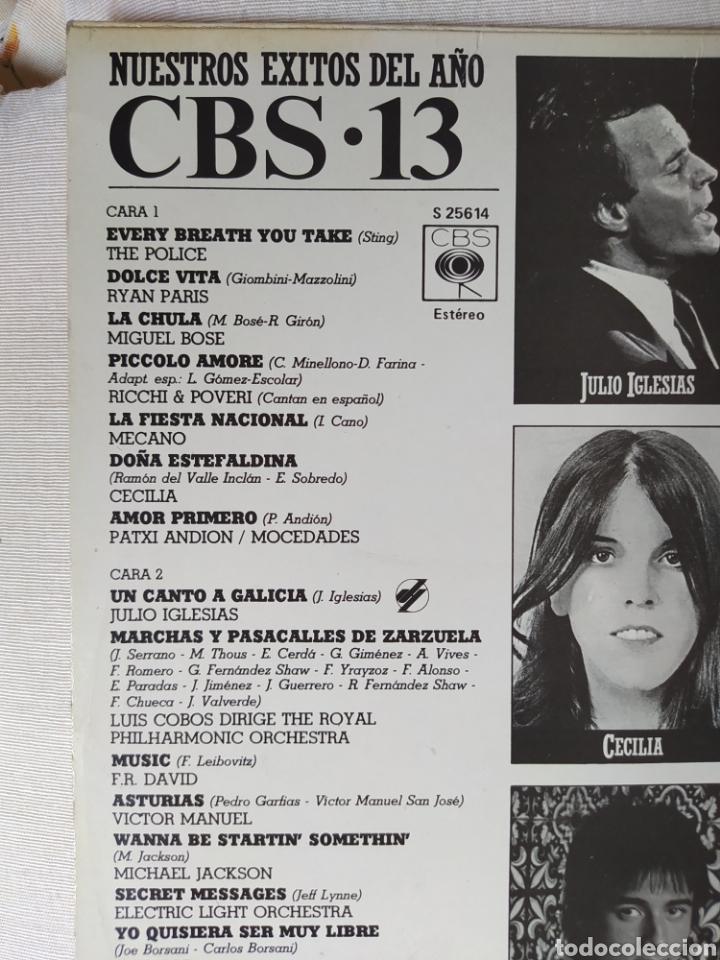 Discos de vinilo: CBS 13. NUESTROS ÉXITOS DEL AÑO 1983- - Foto 3 - 245354705