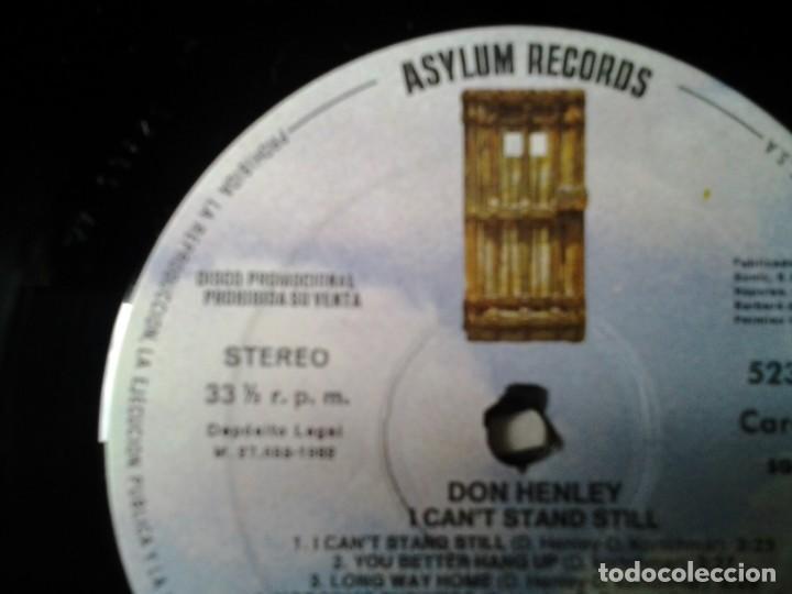 Discos de vinilo: DON HENLEY - I CANT STAND STILL- LP COPIA PROMOCIONAL ASYLUM RECORDS 1982 ED. ESPAÑOLA 52365 MUY B - Foto 2 - 245388475