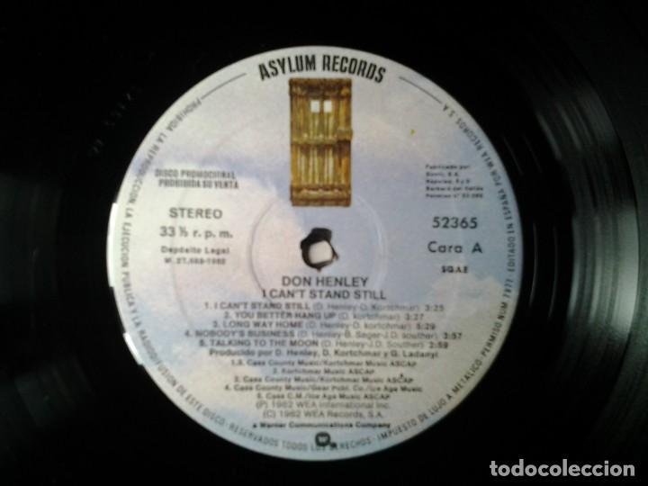Discos de vinilo: DON HENLEY - I CANT STAND STILL- LP COPIA PROMOCIONAL ASYLUM RECORDS 1982 ED. ESPAÑOLA 52365 MUY B - Foto 3 - 245388475