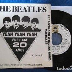 Disques de vinyle: BEATLES SINGLE EP PROMOCIONAL EMI ODEON ESPAÑA ORIGINAL1982 LABEL BLANCO COLECCION. Lote 245393445