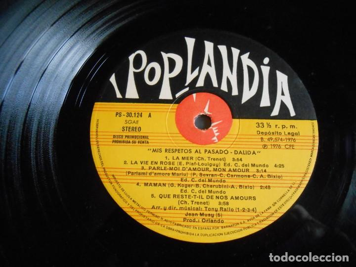 Discos de vinilo: DALIDA - COUP DE CHAPEAU AU PASSÉ -, LP, BESAME MUCHO + 10, AÑO 1976 - Foto 5 - 245397870