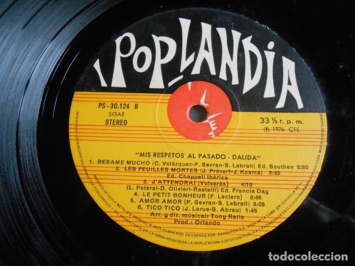 Discos de vinilo: DALIDA - COUP DE CHAPEAU AU PASSÉ -, LP, BESAME MUCHO + 10, AÑO 1976 - Foto 6 - 245397870
