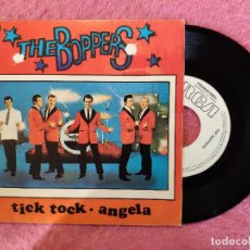 Discos de vinilo: SINGLE THE BOPPERS - TICK TOCK / ANGELA - RCA SPBO-7201 - SPAIN PRESS PROMO (NM/NM). Lote 245398350