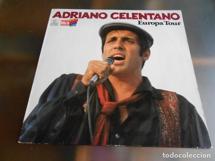 ADRIANO CELENTANO - EUROPA TOUR -, LP, AZZURRO + 15, AÑO 19?? MADE IN GERMANY (Música - Discos - LP Vinilo - Canción Francesa e Italiana)