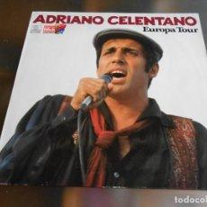 Discos de vinilo: ADRIANO CELENTANO - EUROPA TOUR -, LP, AZZURRO + 15, AÑO 19?? MADE IN GERMANY. Lote 245400065