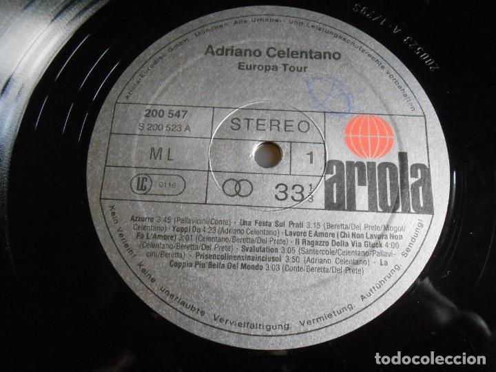 Discos de vinilo: ADRIANO CELENTANO - EUROPA TOUR -, LP, AZZURRO + 15, AÑO 19?? MADE IN GERMANY - Foto 3 - 245400065