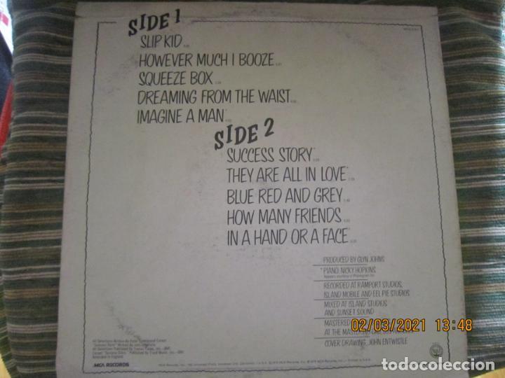 Discos de vinilo: THE WHO - THE WHO BY NUMBERS LP - ORIGINAL U.S.A. - MCA RECORDS 1975 CON FUNDA INT. GENERICA - Foto 2 - 245400370
