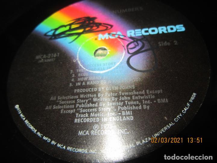 Discos de vinilo: THE WHO - THE WHO BY NUMBERS LP - ORIGINAL U.S.A. - MCA RECORDS 1975 CON FUNDA INT. GENERICA - Foto 16 - 245400370