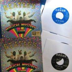 Discos de vinilo: BEATLES LOTE DOBLE EP MAGICAL MISTERY TOUR MONO ESTEREO EMI ODEON ESPAÑA EXCELENTE. Lote 245411035