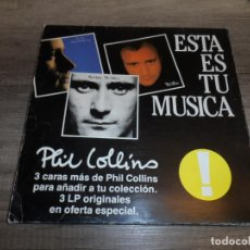 Discos de vinilo: PHIL COLLINS - ESTA ES TU MUSICA (3LPS). Lote 245416655