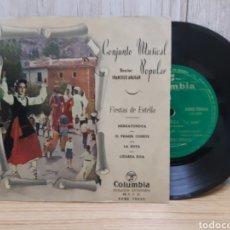 Discos de vinilo: VINILO DE ,CONJUNTO POPULAR DE ESTELLA DIRECTOR FRANCISCO ABAIGAR , FIESTAS DE ESTELLA. Lote 245419640