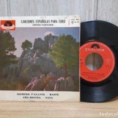 Discos de vinilo: VINILO CANCIONES ESPAÑOLAS PARA CORO ,ORFEON PAMPLONES NAVARRA SIEMPRE PA LANTE. Lote 245419970