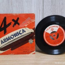 Discos de vinilo: DISCO DE VINILO 4 X ARMONICA POR EL TRIO KAISNER DE TELEFUNKEN. Lote 245420160