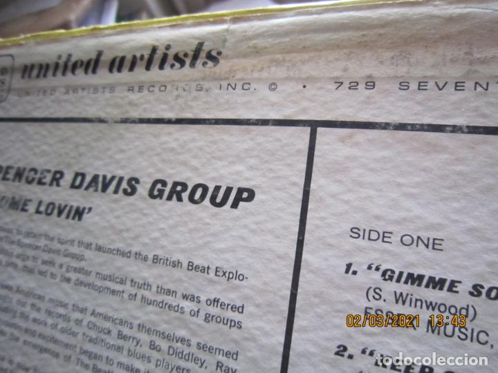 Discos de vinilo: THE SPENCER DAVIS GROUP - GIMME SOME LOVIN LP - ORIGINAL U.S.A. - UNITED ARTISTS 1967 - STEREO - - Foto 8 - 245423650