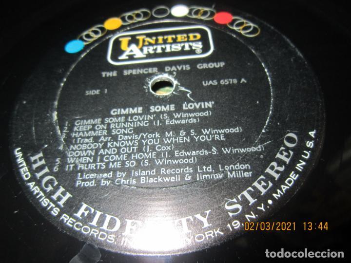 Discos de vinilo: THE SPENCER DAVIS GROUP - GIMME SOME LOVIN LP - ORIGINAL U.S.A. - UNITED ARTISTS 1967 - STEREO - - Foto 14 - 245423650