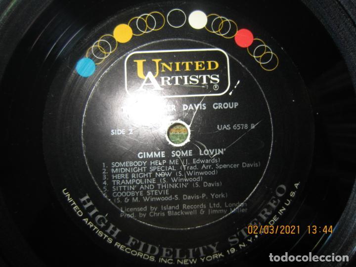 Discos de vinilo: THE SPENCER DAVIS GROUP - GIMME SOME LOVIN LP - ORIGINAL U.S.A. - UNITED ARTISTS 1967 - STEREO - - Foto 16 - 245423650