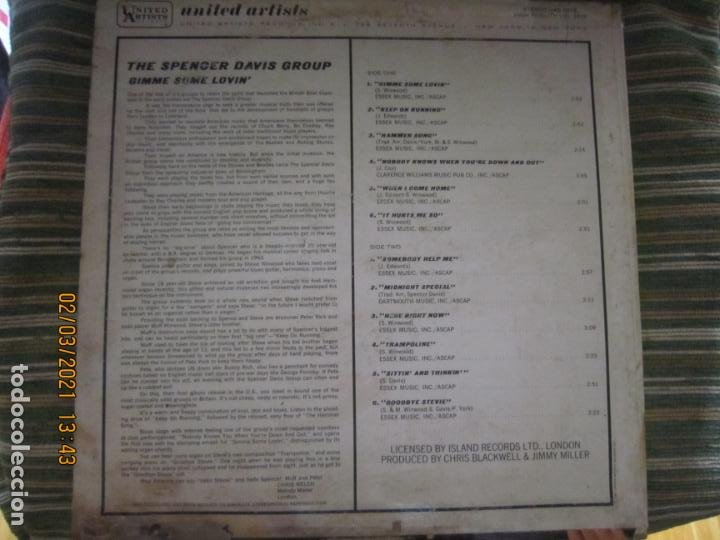 Discos de vinilo: THE SPENCER DAVIS GROUP - GIMME SOME LOVIN LP - ORIGINAL U.S.A. - UNITED ARTISTS 1967 - STEREO - - Foto 19 - 245423650