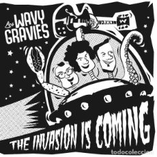 "Discos de vinilo: LOS WAVY GRAVIES THE INVASION IS COMING (7"") . VINILO GARAGE ROCK AND ROLL FRAT. Lote 245424980"