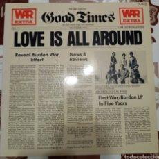 Discos de vinilo: WAR: LOVE IS ALL AROUND: LP: EDICION ESPAÑOLA DE 1979. Lote 245437200