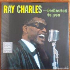 Discos de vinilo: RAY CHARLES - ... DEDICATED TO YOU (LP) PRECINTADO !!!!. Lote 245441045