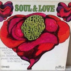 Discos de vinilo: BERRY WINDOW AND THE MOVEMENTS - SOUL & LOVE SONOCORD - 1969. Lote 245441330
