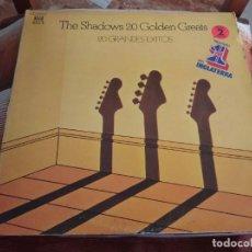 Discos de vinilo: º THE SHADOWS 20 GRANDES EXITOS - 2LP REFLEJO ESPAÑA 1977,GATEFOLD. Lote 245443700