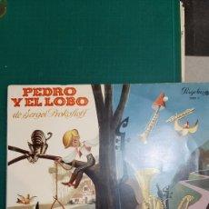 Discos de vinilo: LP PEDRO Y EL LOBO SERGEI OROKOFIEFF PICCOLO.SAXO Y COMPAÑIA HISTORIA ORQUESTA. Lote 245454740