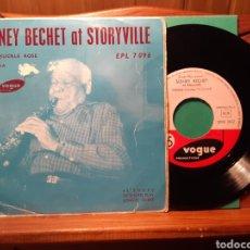 Discos de vinilo: VINILO FRANCES DE SIDNEY BECHET AT STORVILLE. Lote 245455485