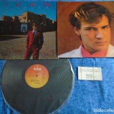 Discos de vinilo: IVAN SPAIN LP 1980 A SOLAS EUROPOP ITALO DISCO INSERT + LETRAS + TARJETA PROMOCIONAL RARA MIRA !. Lote 245458655