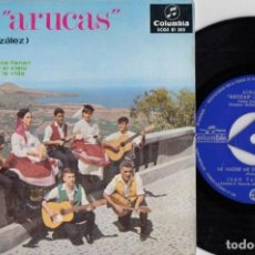 Discos de vinilo: AGRUPACION ARUCAS FAMILIA GONZALEZ - TODOS LOS CANARIOS TIENEN EP DE VINILO FOLKLORE DE CANARIAS #. Lote 245463050