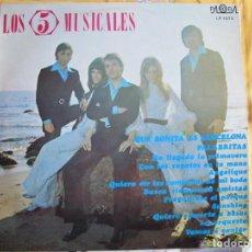 Discos de vinilo: LP - LOS 5 MUSICALES - QUE BONITA ES BARCELONA (SPAIN, DISCOS PALOBAL 1971). Lote 245464870
