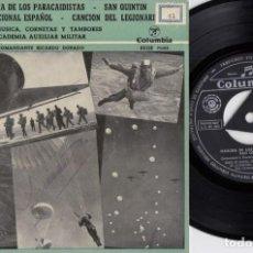 Discos de vinilo: BANDA DE MUSICA CORNETAS Y TAMBORES DE LA ACADEMIA AUXILIAR MILITAR - EP HIMNO NACIONAL + 3 #. Lote 245467170