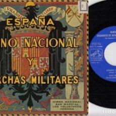 Disques de vinyle: BANDA DEL REGIMIENTO DE INFANTERIA JAEN Nº 25 - EP HIMNO NACIONAL Y MARCHAS MILITARES #. Lote 245467730