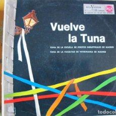 Discos de vinilo: LP - VUELVE LA TUNA - ESCUELA DE PERITOS INDUSTRIALES Y FACULTAD DE VETERINARIA DE MADRID. Lote 245468895