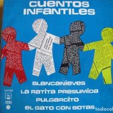 Discos de vinilo: LP - CUENTOS INFANTILES - BLANCANIEVES, LA RATITA PRESUMIDA ETC..(SPAIN, DIRESA 1973). Lote 245471175