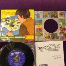 Discos de vinilo: DISCO VINILO 45 RPM CUENTO INFANTIL LA LUCIERNAGA AGRADECIDA TAMBOR (IMPECABLE Y PROBADO). Lote 245472470