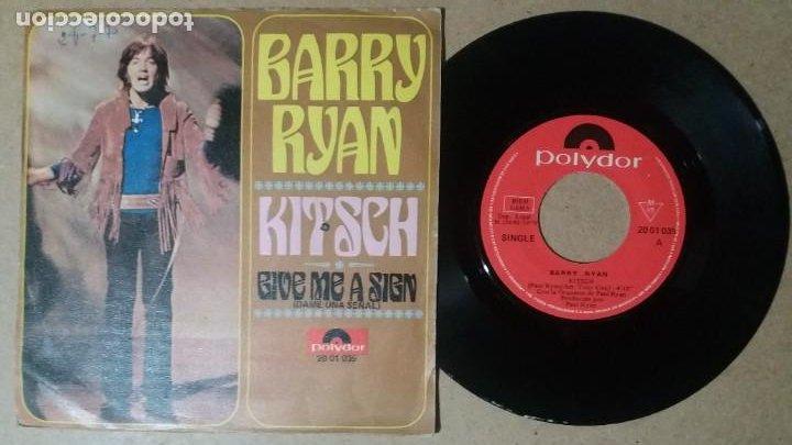 BARRY RYAN / KITSCH / SINGLE 7 PULGADAS (Música - Discos - Singles Vinilo - Pop - Rock - Internacional de los 70)