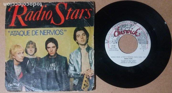 RADIO STARS / ATAQUE DE NERVIOS / SINGLE 7 PULGADAS (Música - Discos - Singles Vinilo - Pop - Rock - Internacional de los 70)