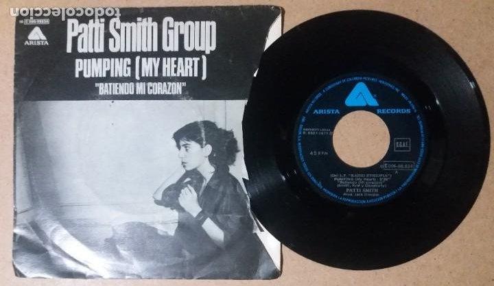 PATTI SMITH GROUP / PUMPING (MY HEART) / SINGLE 7 PULGADAS (Música - Discos - Singles Vinilo - Pop - Rock - Internacional de los 70)