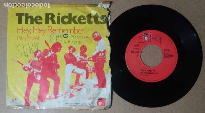 THE RICKETTS / HEY, HEY REMEMBER / SINGLE 7 PULGADAS (Música - Discos - Singles Vinilo - Pop - Rock - Internacional de los 70)