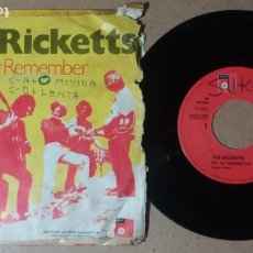 Discos de vinilo: THE RICKETTS / HEY, HEY REMEMBER / SINGLE 7 PULGADAS. Lote 245488770