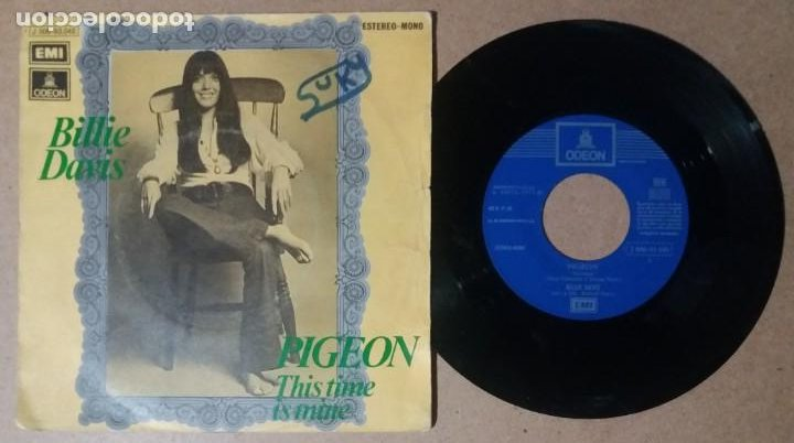 BILLIE DAVIS / PIGEON / SINGLE 7 PULGADAS (Música - Discos - Singles Vinilo - Pop - Rock - Internacional de los 70)