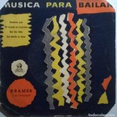 Discos de vinilo: KRAMER Y SU ORQUESTA. MUSICA PARA BAILAR: GARDENIA AZUL/ MI CORAZÓN EN EL PARAÍSO/ BYE BYE BABY 1956. Lote 245503720