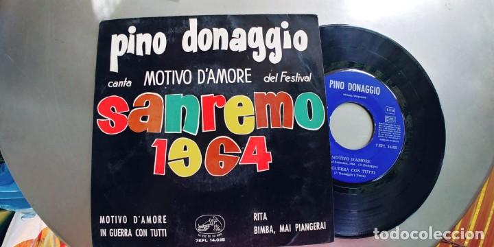 PINO DONAGGIO-EP MOTIVO D'AMORE +3 (Música - Discos de Vinilo - EPs - Otros Festivales de la Canción)