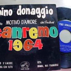 Discos de vinilo: PINO DONAGGIO-EP MOTIVO D'AMORE +3. Lote 245504105