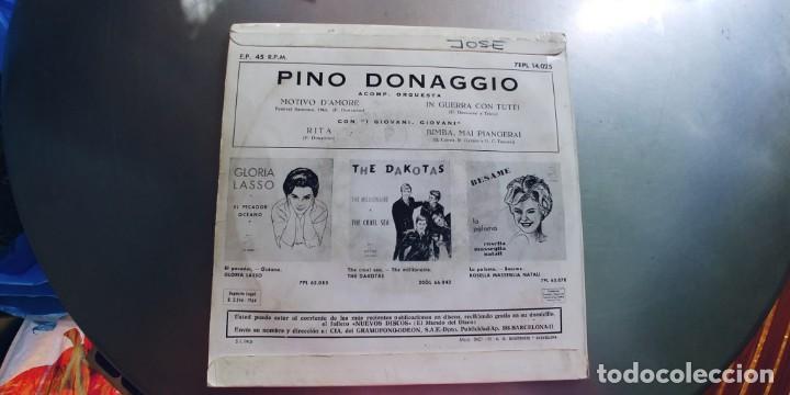 Discos de vinilo: PINO DONAGGIO-EP MOTIVO DAMORE +3 - Foto 2 - 245504105