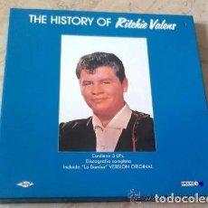 Discos de vinilo: RITCHIE VALENS BOX SET THE HISTORY OF RITCHIE VALENS * CAJA 3 VINILOS. Lote 245506570