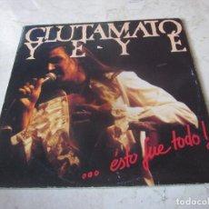 Discos de vinilo: GLUTAMATO YE-YE - ... ESTO FUE TODO! 2LP - PRODUCCIONES TWINS 1987. Lote 245520250